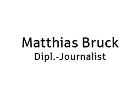 Dipl.-Journalist Matthias Bruck